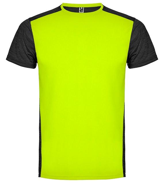 026144b8abf Pánské sportovní tričko Zolder - svítivě žlutá   černá melírová ...